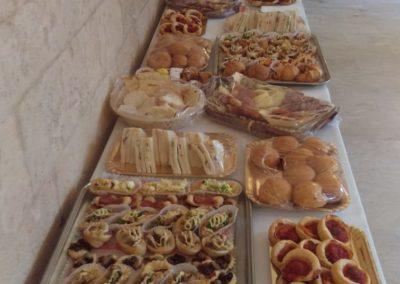 Tavola imbandita Tramezzini, Pizzette