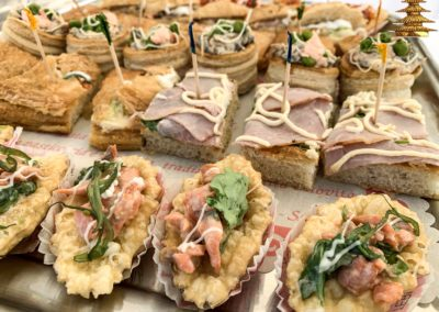 Pizzette e tramezzini per catering